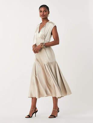 Diane von Furstenberg Nur Soft Satin Midi Dress