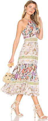 Rebecca Taylor Print Mix Dress in Green $695 thestylecure.com