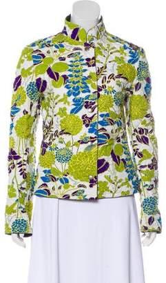 Burberry Printed Long Sleeve Jacket