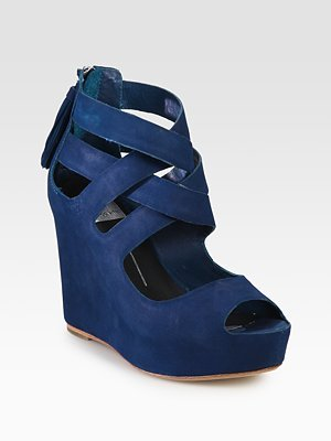 Dolce Vita Jade Suede Wedge Sandals