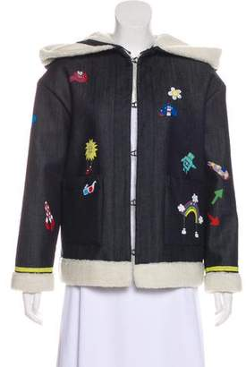 Mira Mikati Hooded Patterned Jacket