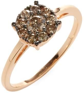 Suzanne Kalan Women's 14K Rose Gold Champagne Diamond Cluster Ring