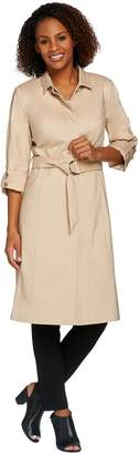 Halston H By H by Button Front Water Repellant Trench Coat