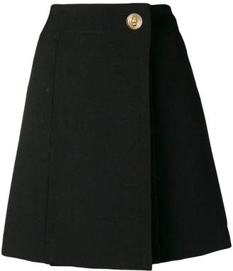 Givenchy A-line wrap skirt