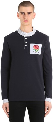 Kent & Curwen Rose Patch Mandarin Collar T-Shirt