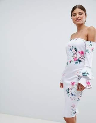 Jessica Wright Bardot Long Sleeve Bodycon Dress