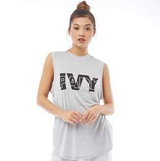 abd0df2f1ca0f Ivy Park Womens Layer Logo Sleeveless Vest Light Grey Marl