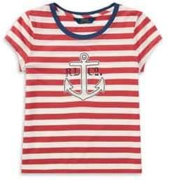 Ralph Lauren Toddler's, Little Girl's& Girl's Striped Jersey Tee