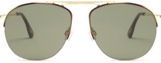 LE SPECS Liberation aviator sunglasses $67 thestylecure.com