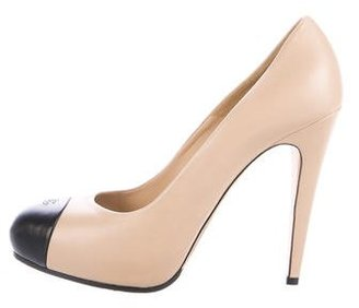 Chanel CC Cap-Toe Pumps