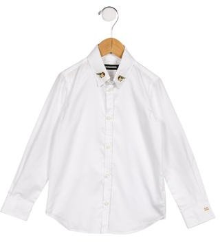 Dsquared2 Girls' Embellished Button-Up Top $65 thestylecure.com
