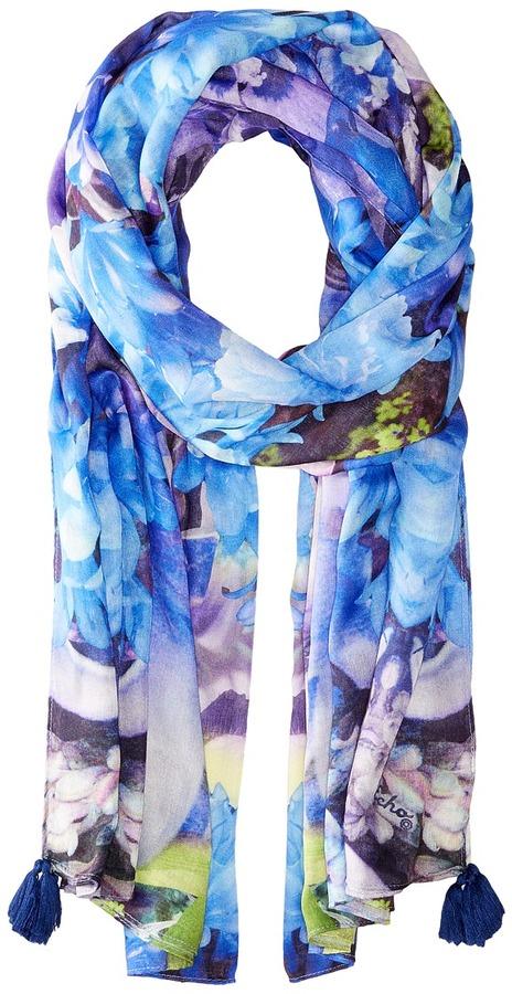 Echo Design - Tropical Floral Wrap Scarf Scarves