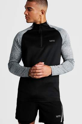boohoo Active Funnel Neck Track Gym Top