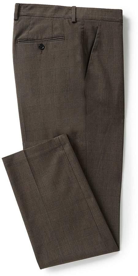 Perry Ellis Slim-Fit Plaid Wrinkle-Resistant Performance Stretch Washable Tech Pants