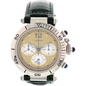 Cartier Pasha Chronographe Green Steel Watches