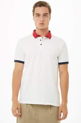 Forever 21 Contrast-Trim Polo Shirt