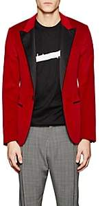Lanvin Men's Velvet One-Button Tuxedo Jacket-Red