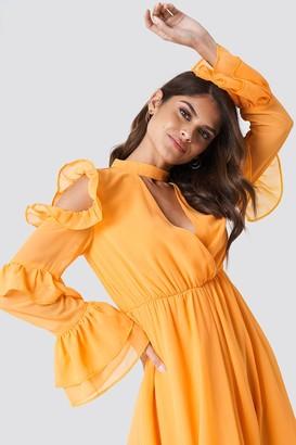 Andrea Hedenstedt X Na Kd Cold Shoulder Flounce Maxi Dress