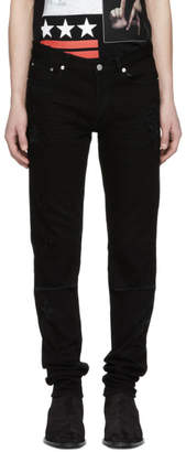 Givenchy Black Distressed Rico Jeans