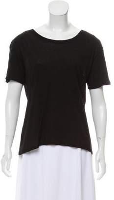 Enza Costa Short Sleeve Scoop Neck T-Shirt