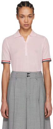 Thom Browne Pink Relaxed-Fit Polo