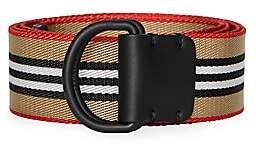 Burberry Men's Icon Stripe Double D-Ring Belt