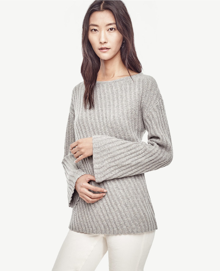Ann TaylorStitched Bell Sleeve Sweater
