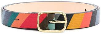 Paul Smith Black Label striped buckle belt