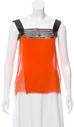 Philosophy di Alberta Ferretti Sleeveless Silk Top