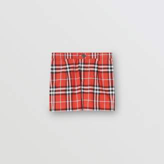 Burberry Check Cotton Tailored Shorts