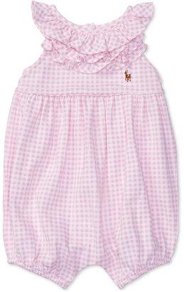 Ralph Lauren Ruffled Collar Shortall, Baby Girls (0-24 months) $29.50 thestylecure.com