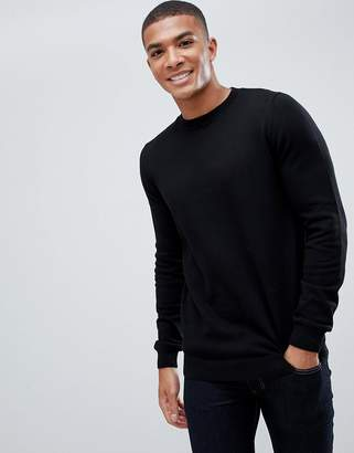 New Look sweater with crew neck in black