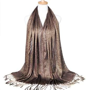 Ya Jin Womens Silk Head Scarf Evening Wrap Wedding Shawl with Tassel