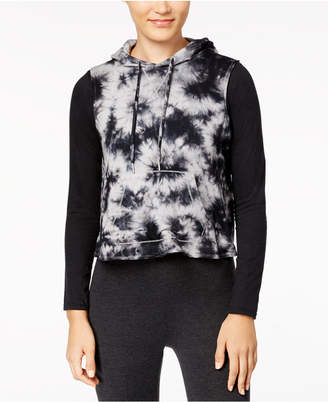 Calvin Klein Tie-Dyed Cropped Sleeveless Hoodie