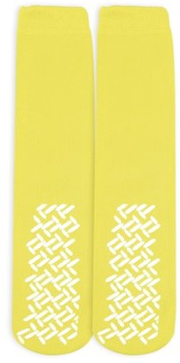 Nobles Health Care Product Solutions Nobles Assorted Non Skid Non Slip Hospital Gripper Socks Made in USA 1 Pair (Yellow Ladies Color)