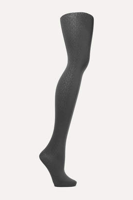 Wolford Spots Metallic 50 Denier Tights - Anthracite