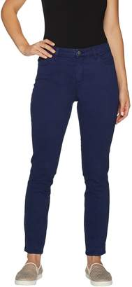 Logo By Lori Goldstein LOGO by Lori Goldstein 5-Pocket Stretch Sateen Skinny Pants