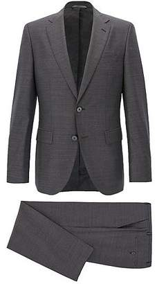 HUGO BOSS Regular-fit virgin wool suit with AMF stitching
