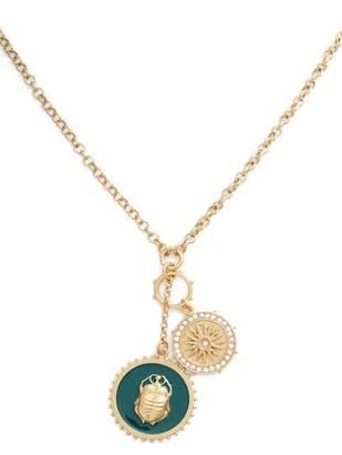 Vince Camuto Enamel Scarab Pendant Necklace