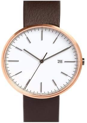Uniform Wares M-Line Leather Strap Watch, 40mm