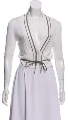 Brunello Cucinelli Short Sleeve Cropped Cardigan