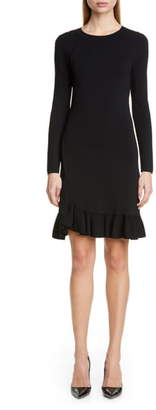 Altuzarra Long Sleeve A-Line Sweater Dress