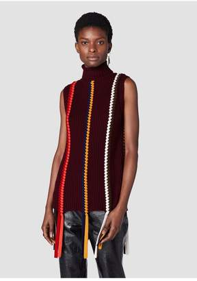 Derek Lam 10 Crosby Sleeveless Turtleneck With Braid Detail