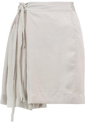Etoile Isabel Marant Hudson Belted Satin-Crepe Mini Skirt