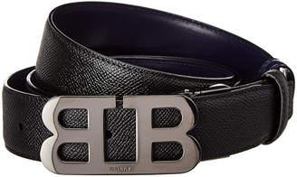 Bally Mirror B Stamped Leather Belt