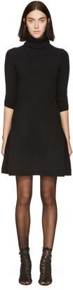 Dsquared2 Black Knit Turtleneck Dress $1,470 thestylecure.com