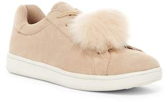 Madden Girl Baabee Faux Fur Pompom Sneaker $59 thestylecure.com