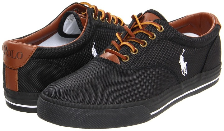 Polo Ralph Lauren Vaughn (Black Nylon) - Footwear