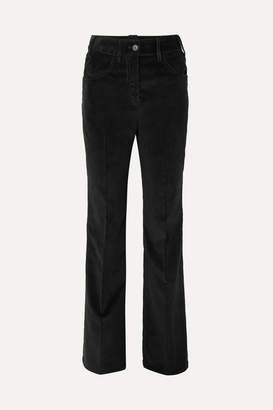 Prada Cotton-corduroy Wide-leg Pants - Black