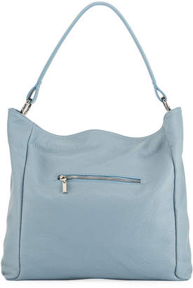 Neiman Marcus Soft Pebbled Leather Hobo Bag